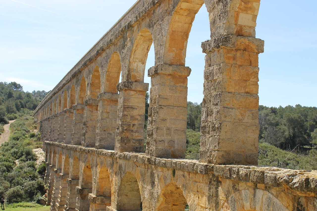 spain, aqueduct, ancient