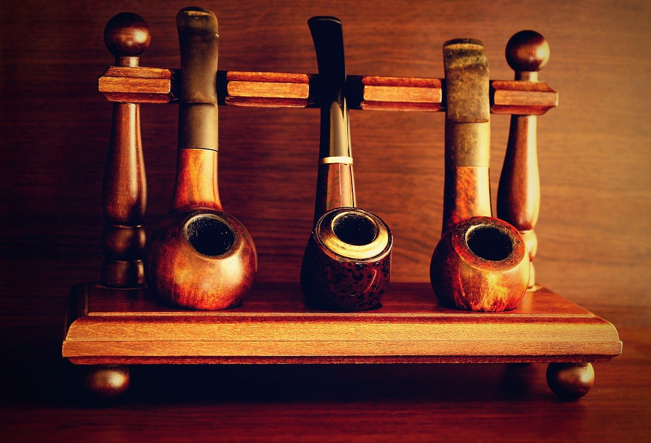 pipes, tobacco, old